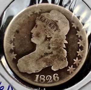 1826 50C OVERTON 106A CAPPED BUST SILVER HALF DOLLAR COIN