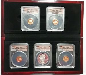 2009 LINCOLN CHRONICLE COIN SET 200TH ANNIVERSARY ANACS PROOF FIRST STRIKE