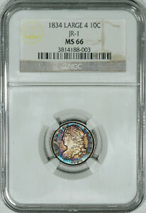 Click now to see the BUY IT NOW Price! 1834 NGC MS66 CAPPED BUST DIME JR 1 PROFESSIONALLY GRADED AND ENCAPSULATED