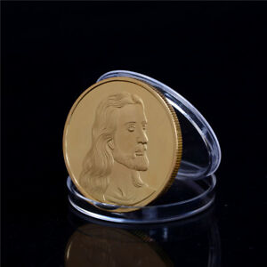 JESUS THE LAST SUPPER GOLD PLATED COMMEMORATIVE COIN ART COLLECTION GIFTE FBDU