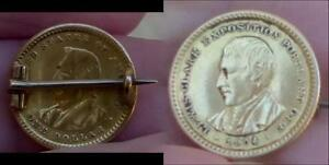 REDUCED AGAIN   1904 LEWIS AND CLARK $1 GOLD COMMEMORATIVE PIN