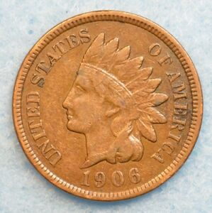 1906 INDIAN HEAD CENT PENNY NICE OLD COIN PARTIAL LIBERTY FAST S&H 78056