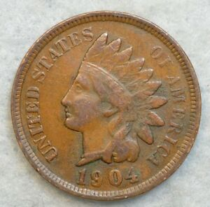 1904 INDIAN HEAD CENT PENNY NICE OLD COIN LIBERTY FAST S&H 76697
