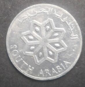 SOUTH ARABIA 1964 1 FIL  COIN  UNC NICE