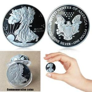 3MM SILVER STATUE OF LIBERTY COMMEMORATIVE ROUND COLLECTOR COIN COLLECTION GIFTS