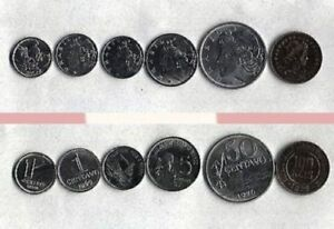 BRAZIL 1990 2000 SET OF 6 CIRCULATED COINS FROM 1 CENTAVO TO 100 REIS X/FINE.