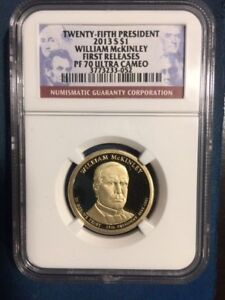 2013 S NGC PF70 WILLIAM MCKINLEY PRESIDENTIAL DOLLAR  FIRST RELEASES