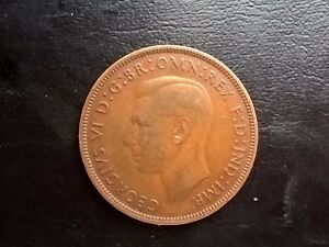 BRITISH ONE 1 PENNY 1937 COIN GEORGE VI