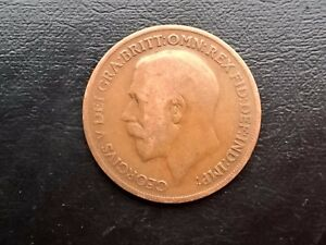 BRITISH ONE 1 PENNY 1920 COIN GEORGE V