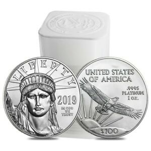 Click now to see the BUY IT NOW Price! ROLL OF 20   2019 1 OZ PLATINUM AMERICAN EAGLE $100 COIN BU  LOT TUBE OF 20