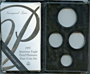 1997 4PC PROOF PLATINUM AMERICAN EAGLE BOX & COA NO COINS OR CAPSULES