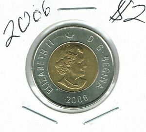 2006 CANADIAN BRILLIANT UNCIRCULATED $2 TOONIE COIN