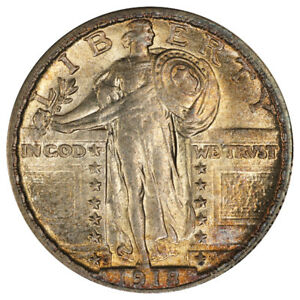 Click now to see the BUY IT NOW Price! 1918/7 S 25C PCGS MS62