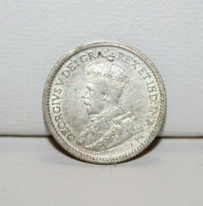 1914 CANADA 5 FIVE CENTS SILVER COIN