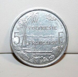 1992 FRENCH POLYNESIA 5 FIVE FRANCS COIN
