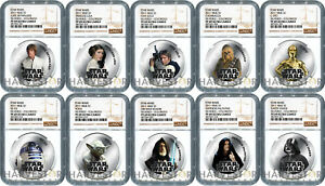 Click now to see the BUY IT NOW Price! 2011 STAR WARS: SILVERED 10 COIN SET   NGC PF69 ULTRA CAMEO   TOP POP