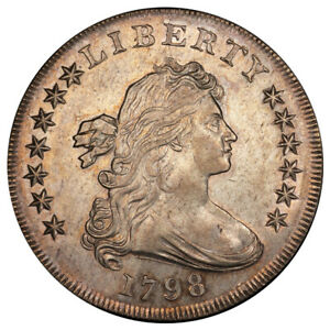 Click now to see the BUY IT NOW Price! 1798 $1 LARGE EAGLE B 19 BB 106 R.5 PCGS AU58