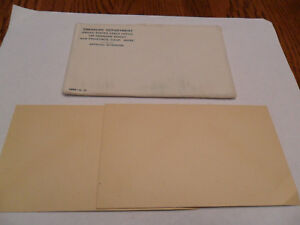 1963 MINT SET ENVELOPE ONLY  NO COINS