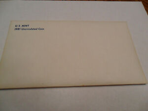 1981 MINT SET ENVELOPE ONLY  NO COINS