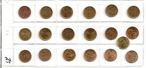 COLLECTION 10 KOPECKS OF THE YEAR RUSSIA 1997 2015 19 COINS CHEAPLY SALE