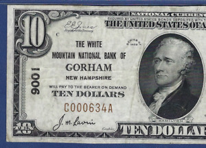 NH 1929 $10 GORHAM NEW HAMPSHIRE  PMG CH VF 35  THE WHITE MOUNTAIN NB