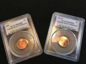 2009 P & D MINT LINCOLN CENT PCGS MS66RD