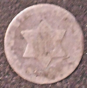 TYPE 1 SILVER THREE CENT PIECE.