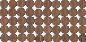1942 D LINCOLN WHEAT CENT ROLL CIRCULATED