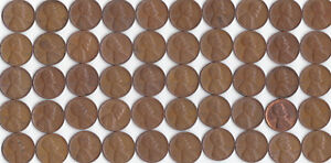 1947 P LINCOLN WHEAT CENT ROLL CIRCULATED