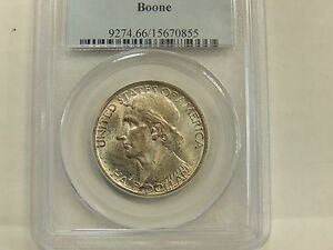 1938 MS66 BOONE SILVER COMMEMORATIVE PCGS CERTIFIED GEM