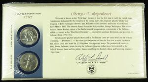 US MINT 1999 P & D UNCIRCULATED DELAWARE STATE QUARTER FIRST DAY COVER BU SEALED