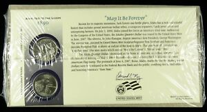 US MINT 2007 P & D UNCIRCULATED IDAHO STATE QUARTER FIRST DAY COVER SEALED BU