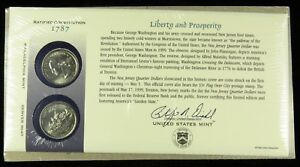 US MINT 1999 P & D UNCIRCULATED NEW JERSEY STATE QUARTER FIRST DAY COVER BU