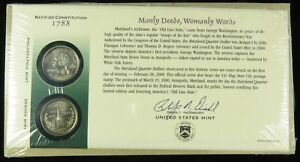 US MINT 2000 P & D UNCIRCULATED MARYLAND STATE QUARTER FIRST DAY COVER BU SEALED