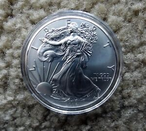 2014 1 OZ AMERICAN SILVER EAGLE UNCIRCULATED DOLLAR   B GRADE