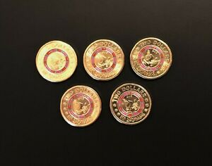1 X SHINY NEW UNCIRCULATED 2019 $2 COIN    MR SQUIGGLE    GUS    FROM A MINT BAG