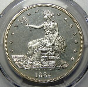 Click now to see the BUY IT NOW Price! 1884 PCGS/CAC PR64 CAMEO TRADE DOLLAR   1 OF 10 KNOWN   LY
