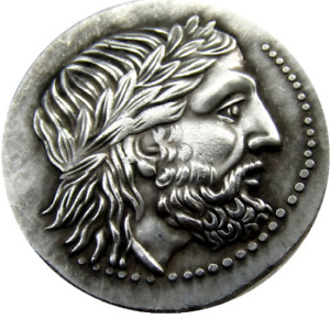 ANCIENT GREEK SILVER TETRADRACHM COIN OF KING PHILIP II 323 BC