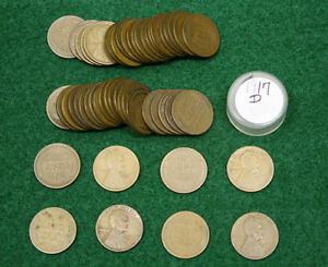 1917 D LINCOLN WHEAT CENTS    1 CIRCULATED ROLL