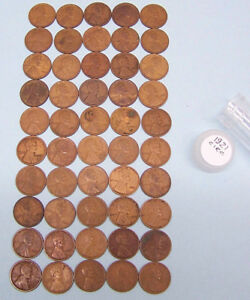 1921 LINCOLN WHEAT CENTS    1 CIRCULATED ROLL