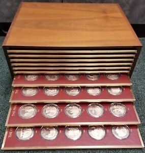 Click now to see the BUY IT NOW Price! HISTORY OF THE UNITED STATES  COMPLETE BRONZE PROOF FRANKLIN MINT 200 COIN SET