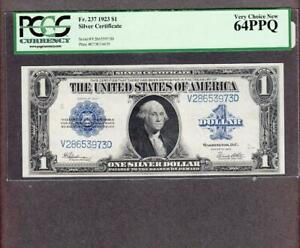 4 FR.237 1923 $1 SILVER CERTIFICATE   PCGS 64PPQ. 4 CONSECUTIVE SERIAL NUMBERS.