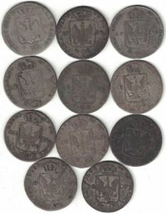 GERMAN STATES PRUSSIA COLLECTION OF 11X 4 GROSCHEN 1797 1809 ALL LISTED