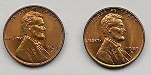 1939 D AND 1939 S LINCOLN WHEAT CENTS      UNCIRCULATED