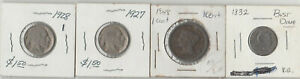 1832 BUST DIME 1848 LARGE CENT 1927 1928 BUFFALO NICKLE.