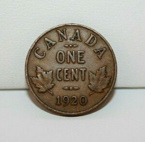 1920 CANADA ONE SMALL CENT COIN KM 21