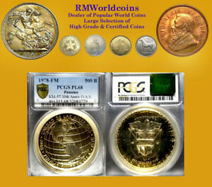 Click now to see the BUY IT NOW Price! PANAMA 1978 500 BALBOA EXT  SPECIMEN STRIKE PCGS PL68 ONLY 106 COINS MADE