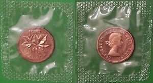 1964 CANADA PENNY SEALED IN CELLOPHANE