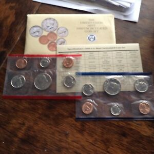 1990 D & P UNCIRCULATED MINT SET W/ENVELOPE