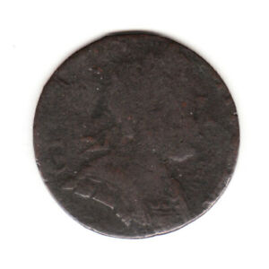 1773 GEORGE III EVASION BRITISH US COLONIAL FARTHING COPPER COIN.